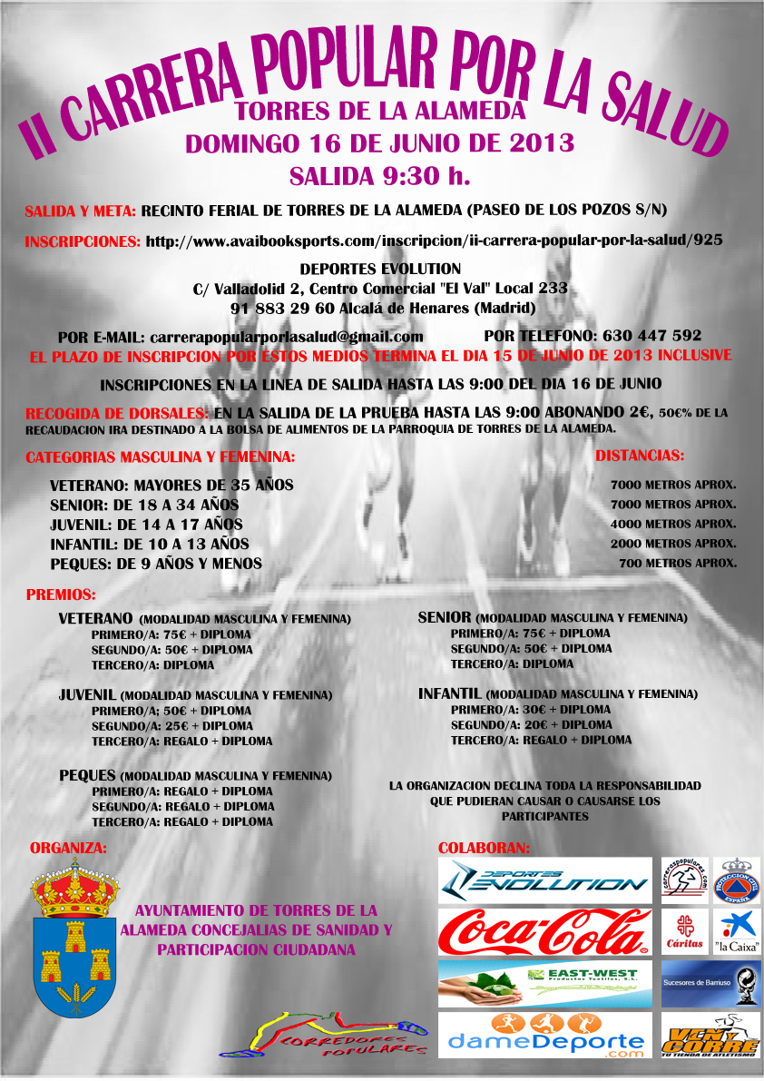 II CARRERA POPULAR POR LA SALUD - Register