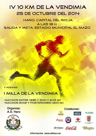 IV 10 KM DE LA VENDIMIA - Register