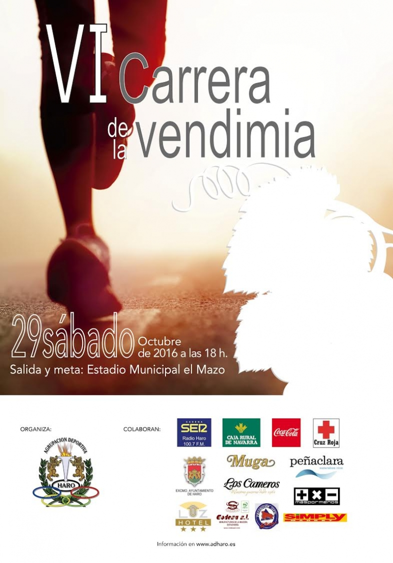 VI CARRERA DE LA VENDIMIA - Inscrivez-vous