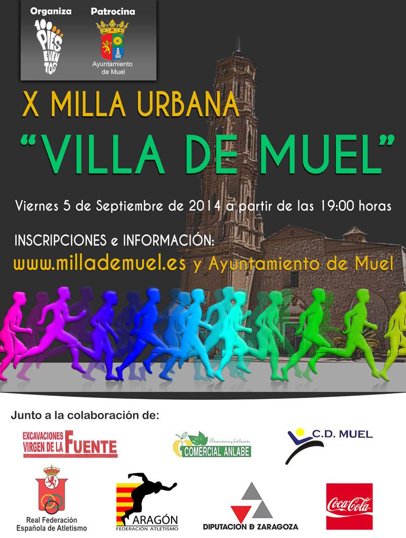 """X MILLA URBANA """"VILLA DE MUEL"""" - Inscríbete"""