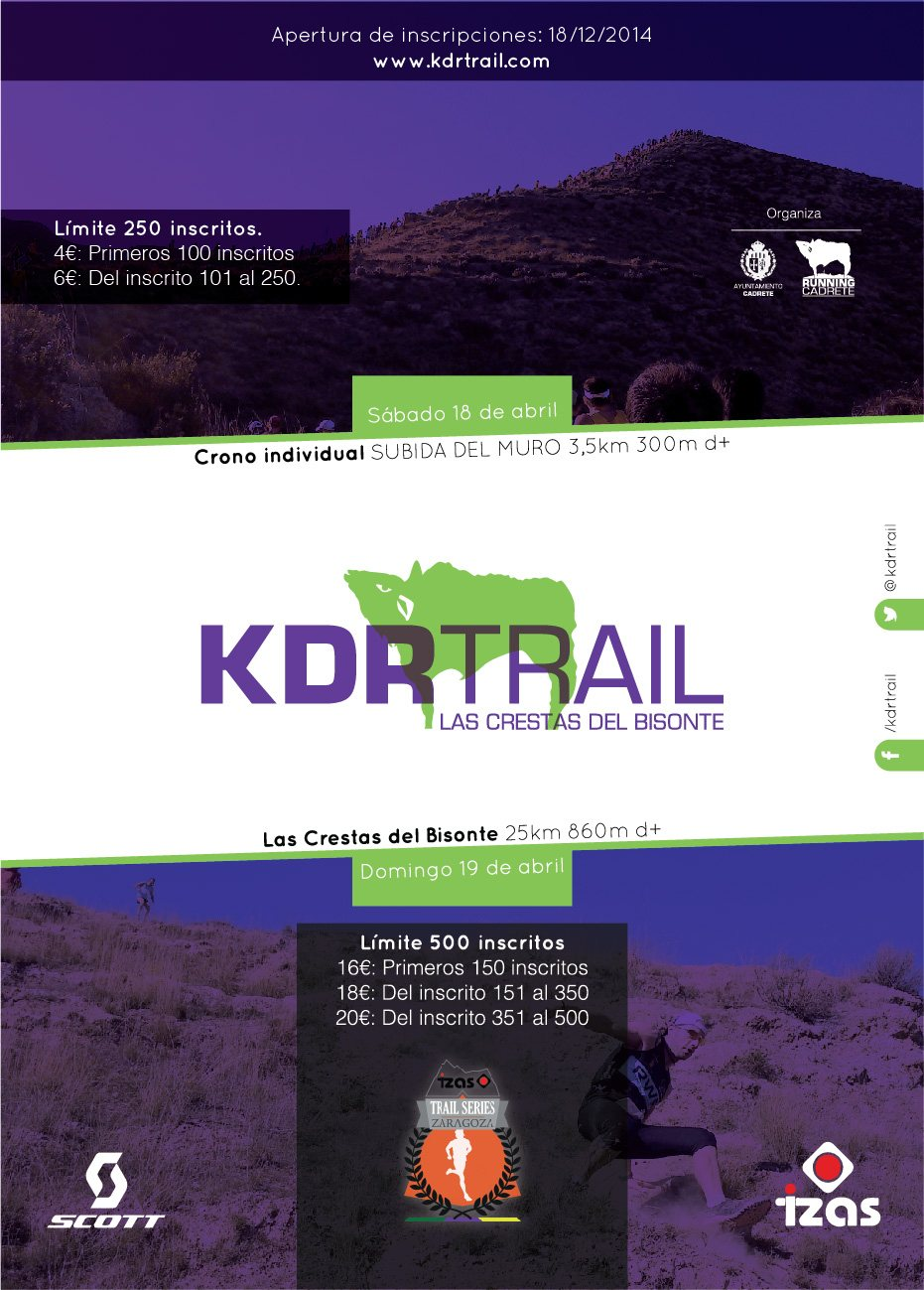 KDRTRAIL 2015: CRONO VERTICAL DEL MURO - Register