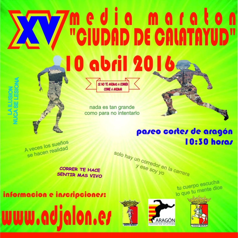 "XV MEDIA MARATON ""CIUDAD DE CALATAYUD"" - Inskriba zaitez"
