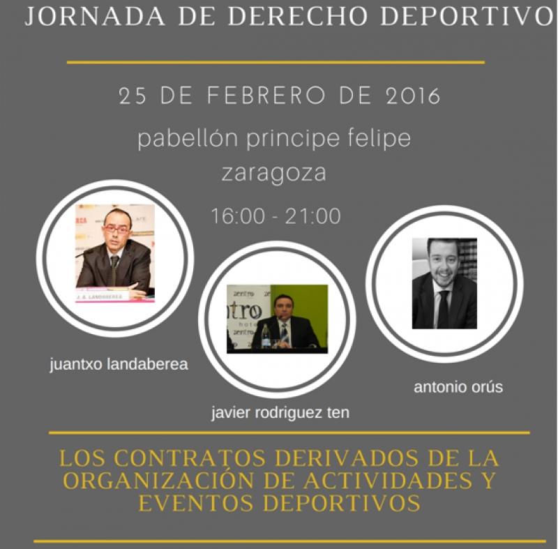 JORNADA DE DERECHO DEPORTIVO. LOS CONTRATOS DERIVADOS DE LA ORGANIZACIÓN DE ACTIVIDADES Y EVENTOS DEPORTIVOS - Inscríbete