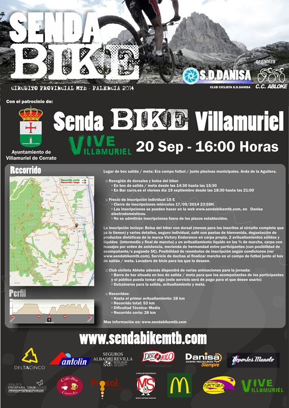 SENDA BIKE VILLAMURIEL - Inscriu-te