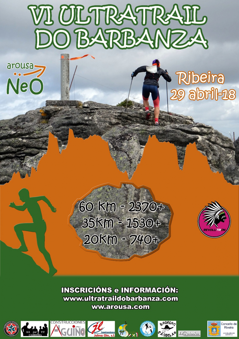 Cartel del evento VI ULTRATRAIL DO BARBANZA 2018