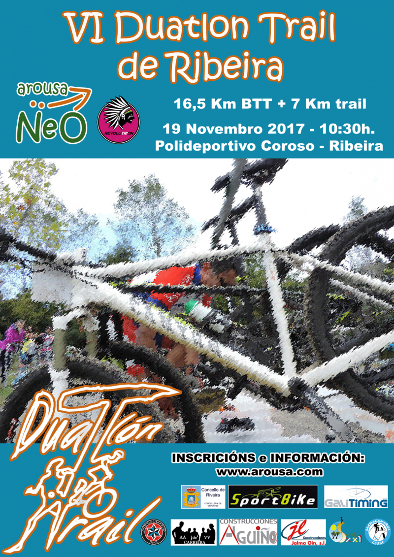 Cartel del evento VI DUATLÓN TRAIL DE RIVEIRA