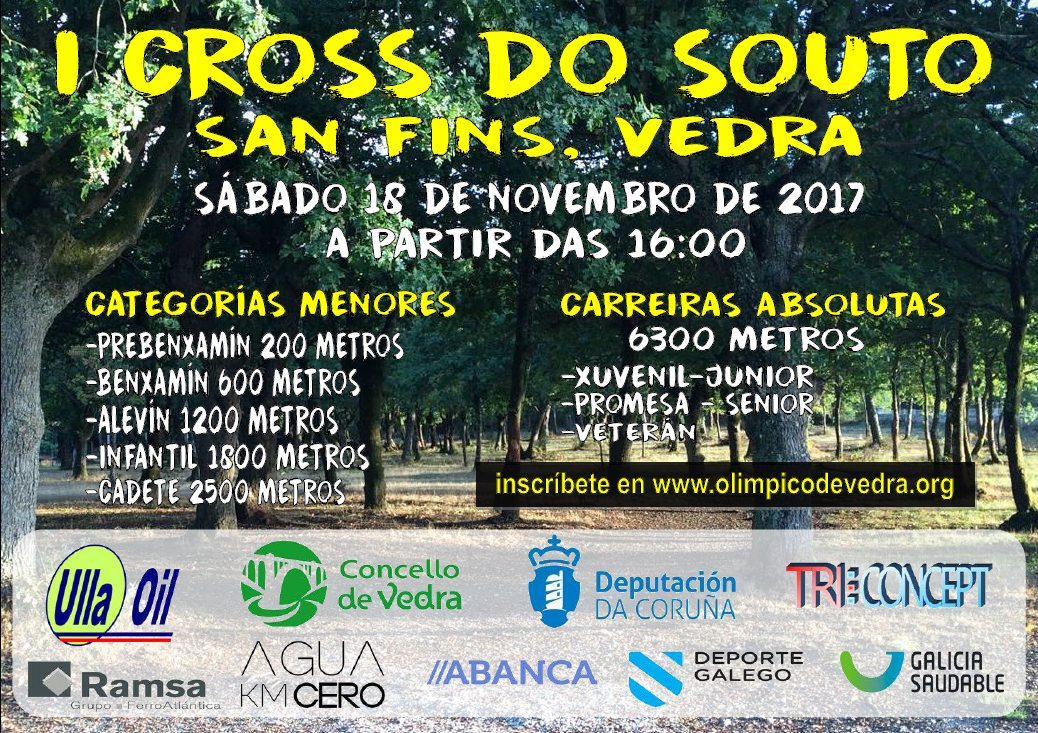 Cartel del evento I CROSS DO SOUTO - SAN FINS VEDRA