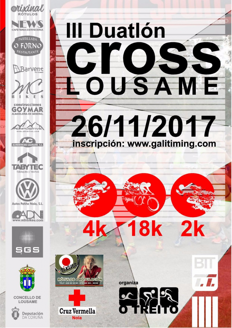 Cartel del evento III DUATLON CROSS - LOUSAME