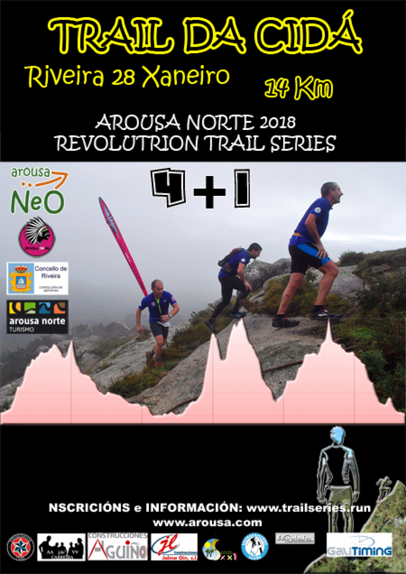 Cartel del evento AROUSA NORTE 2018 - REVOLUTRION - TRAIL DA CIDÁ