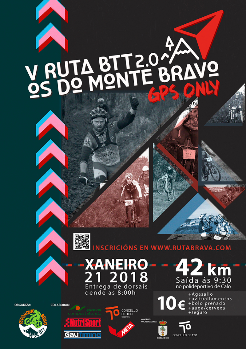 Cartel del evento V RUTA BTT 2.0 OS DO MONTE BRAVO - 2018