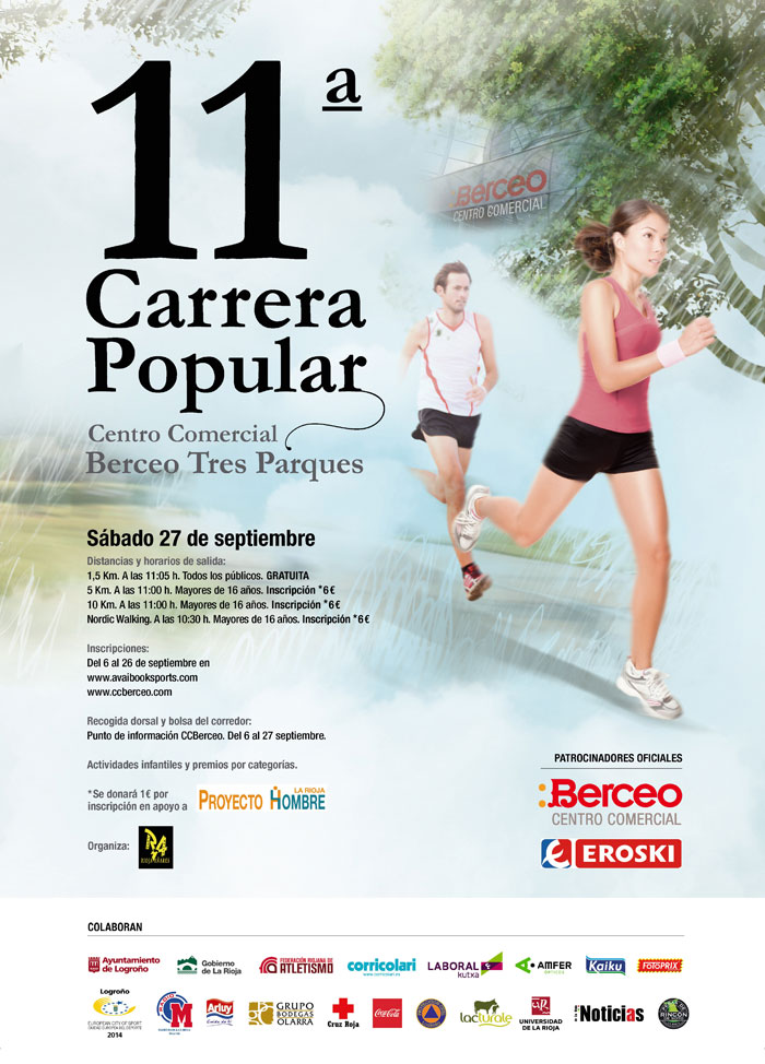 XI CARRERA POPULAR TRES PARQUES - C.C. BERCEO-EROSKI - Inscriu-te