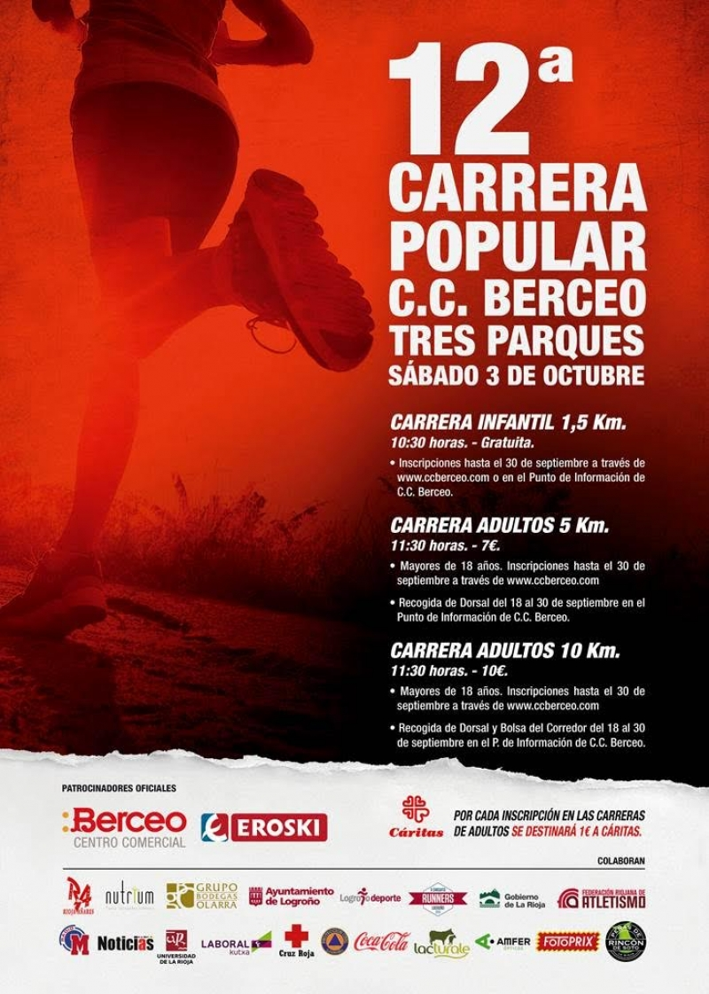 XII CARRERA POPULAR TRES PARQUES - C.C. BERCEO-EROSKI - Register