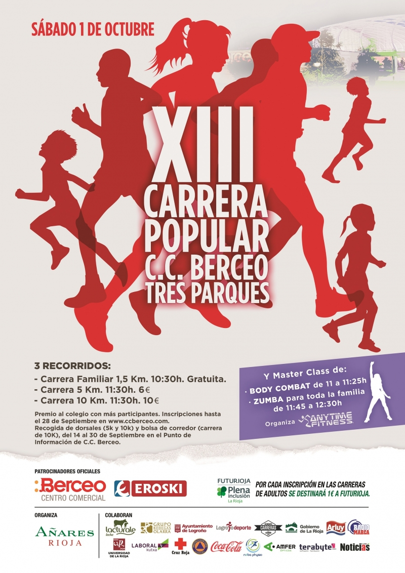 XIII CARRERA POPULAR TRES PARQUES - C.C. BERCEO-EROSKI - Inscriu-te