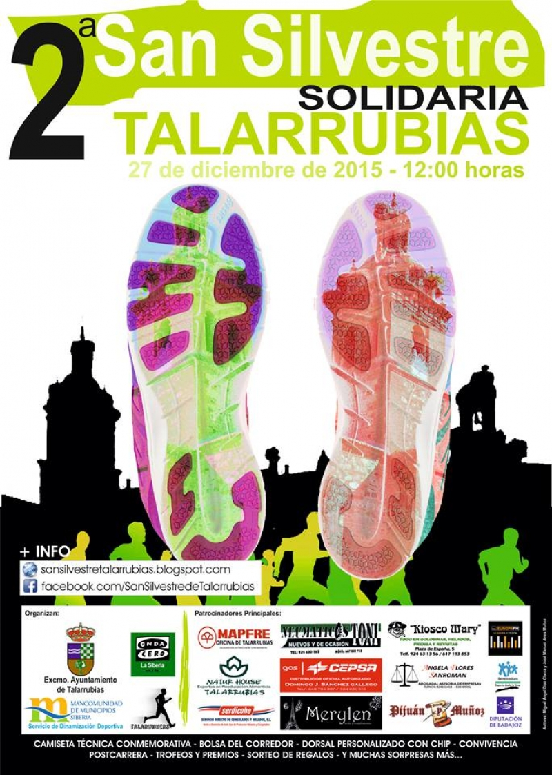 II SAN SILVESTRE SOLIDARIO DE TALARRUBIAS - Inscríbete