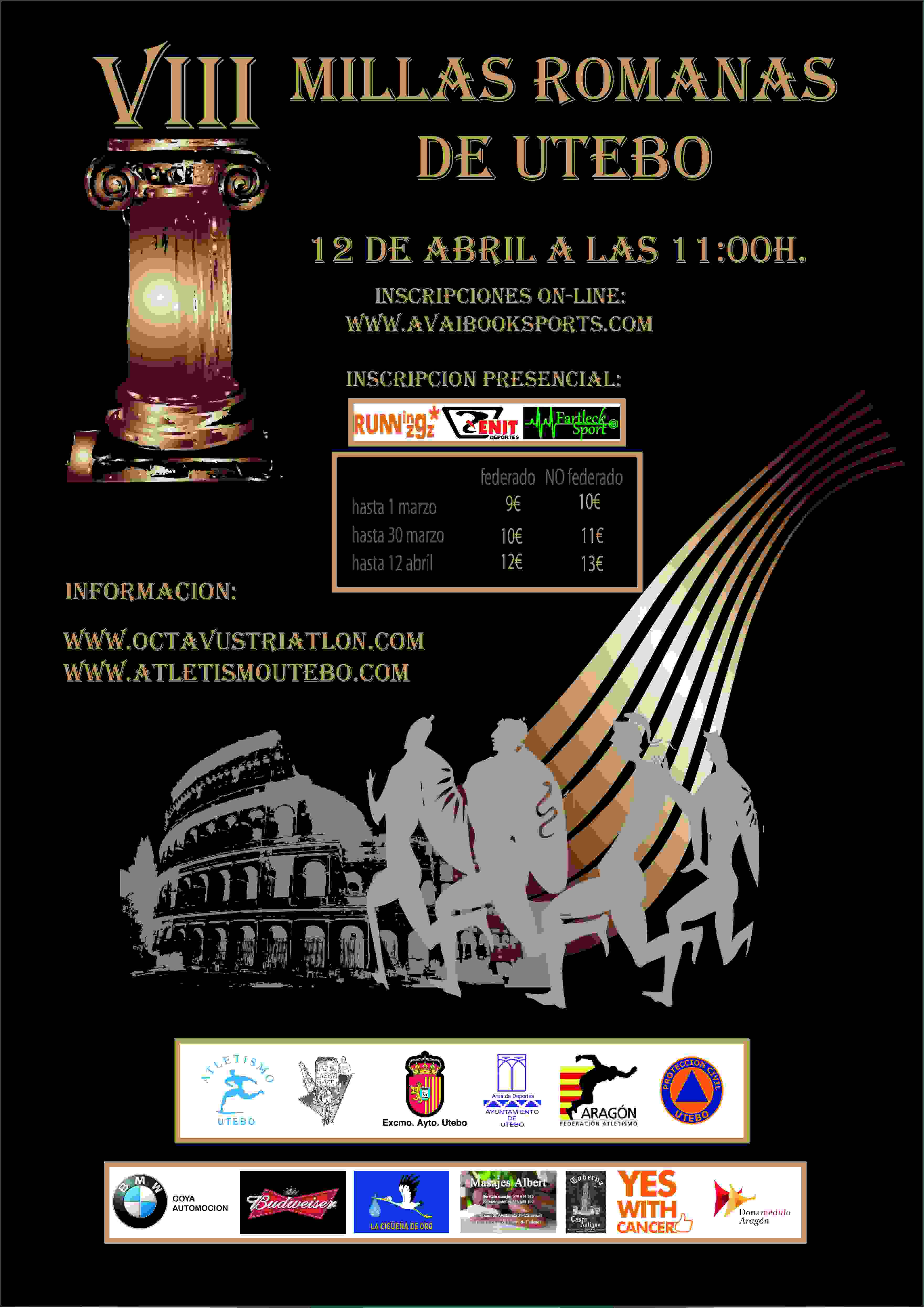 VIII MILLAS DE UTEBO - Register