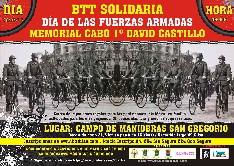 """BTT SOLIDARIA DÍA DE LAS FUERZAS ARMADAS """"MEMORIAL CABO 1º CASTILLO"""" - Inscríbete"""