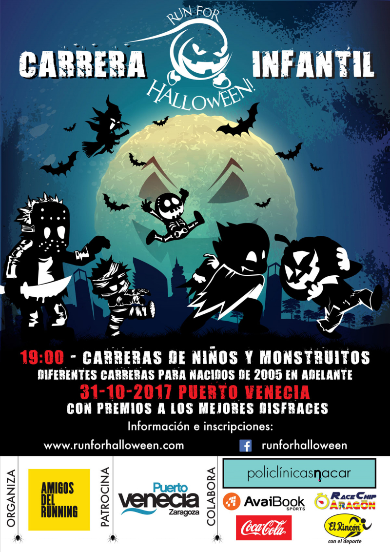 CARRERA INFANTIL RUN FOR HALLOWEEN 2017 - 31/10/2017 - PUERTO VENECIA - Inscríbete