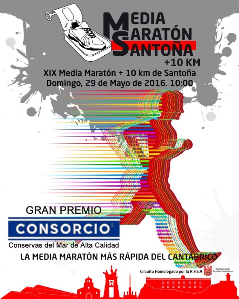 XIX MEDIA MARATÓN DE SANTOÑA + 10K - Inscríbete