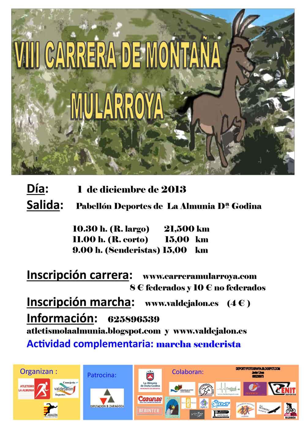 VIII CARRERA DE MONTAÑA MULARROYA - Inscrivez-vous